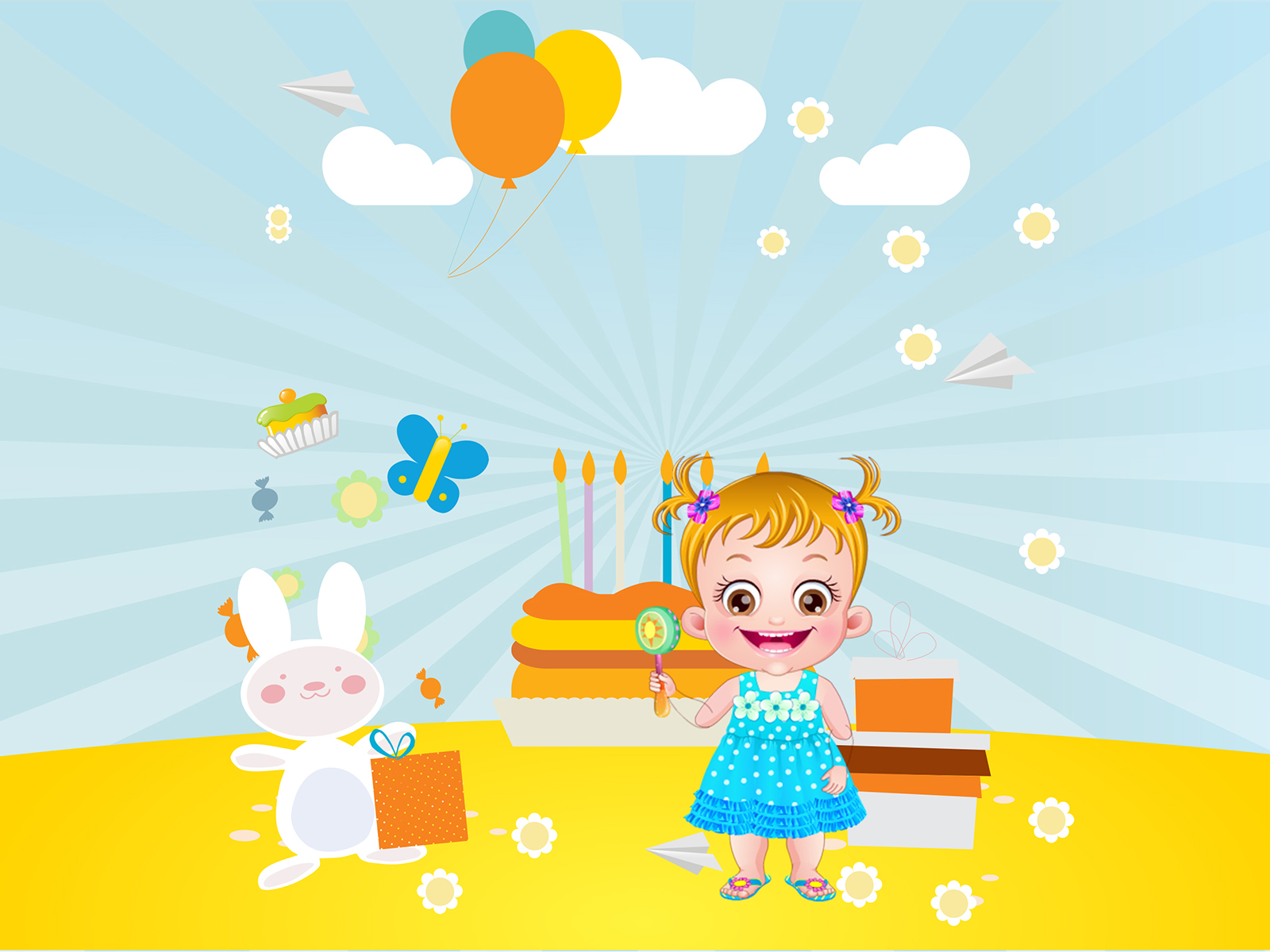 tv game show powerpoint templates - baby hazel birthday backgrounds blue games holiday