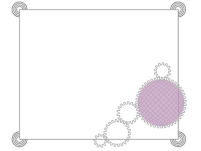 Border with Cogs PPT Backgrounds