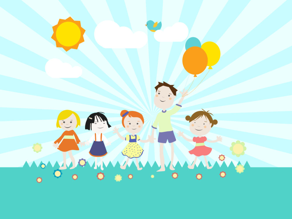 Sports Kids Backdrop: Childrens Playground Backgrounds
