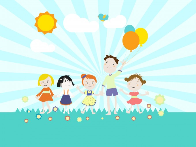 Childrens Playground PPT Backgrounds