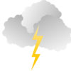 Clouds and Lighting Powerpoint Backgrounds