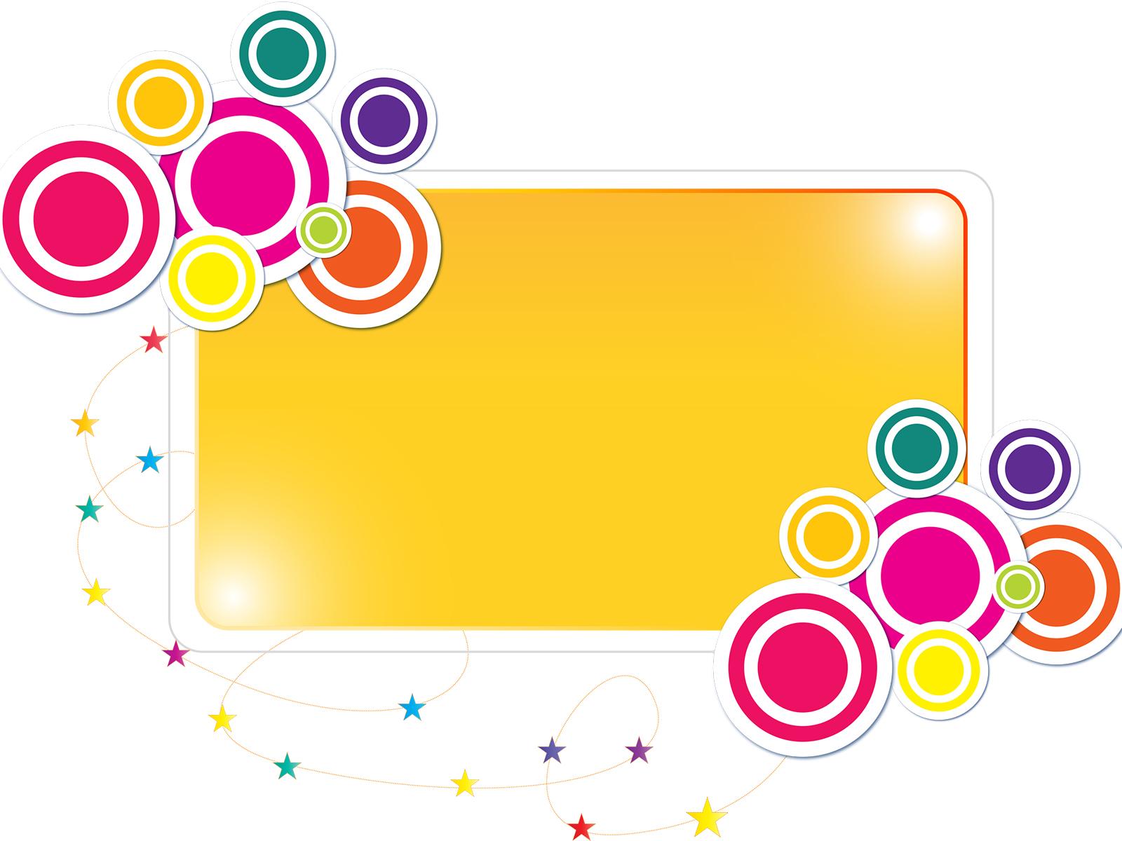 colorful label frame backgrounds border frames powerpoint