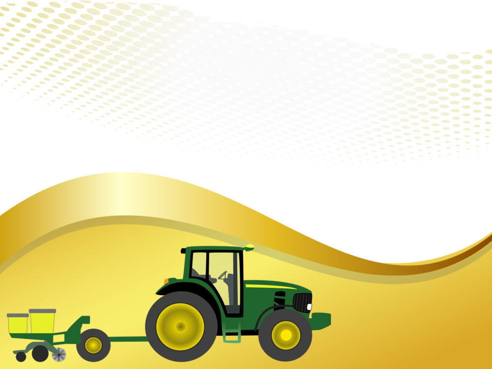 Farm Tractor With Planter Backgrounds Engineering Green