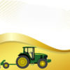 Farm tractor with planter backgrounds