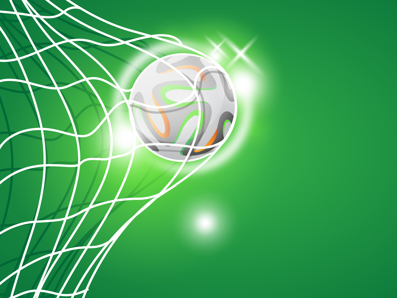 Football Goal Backgrounds Green Sports Templates Free Ppt