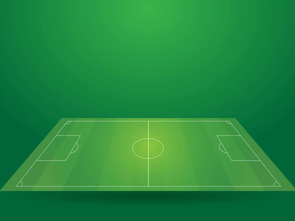 tv game show powerpoint templates - football sport field backgrounds green sports templates