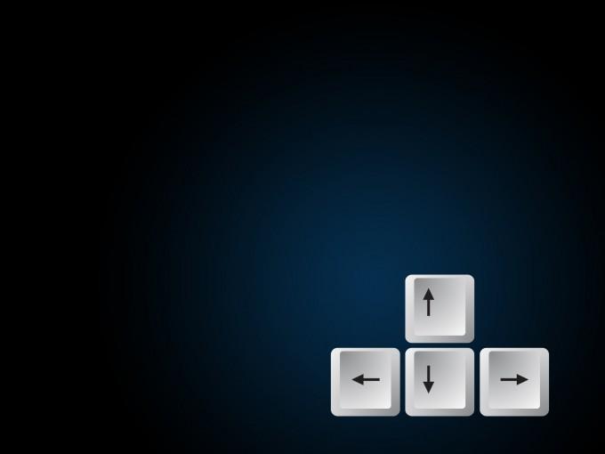 Keyboard Arrow Button PPT Design PPT Backgrounds