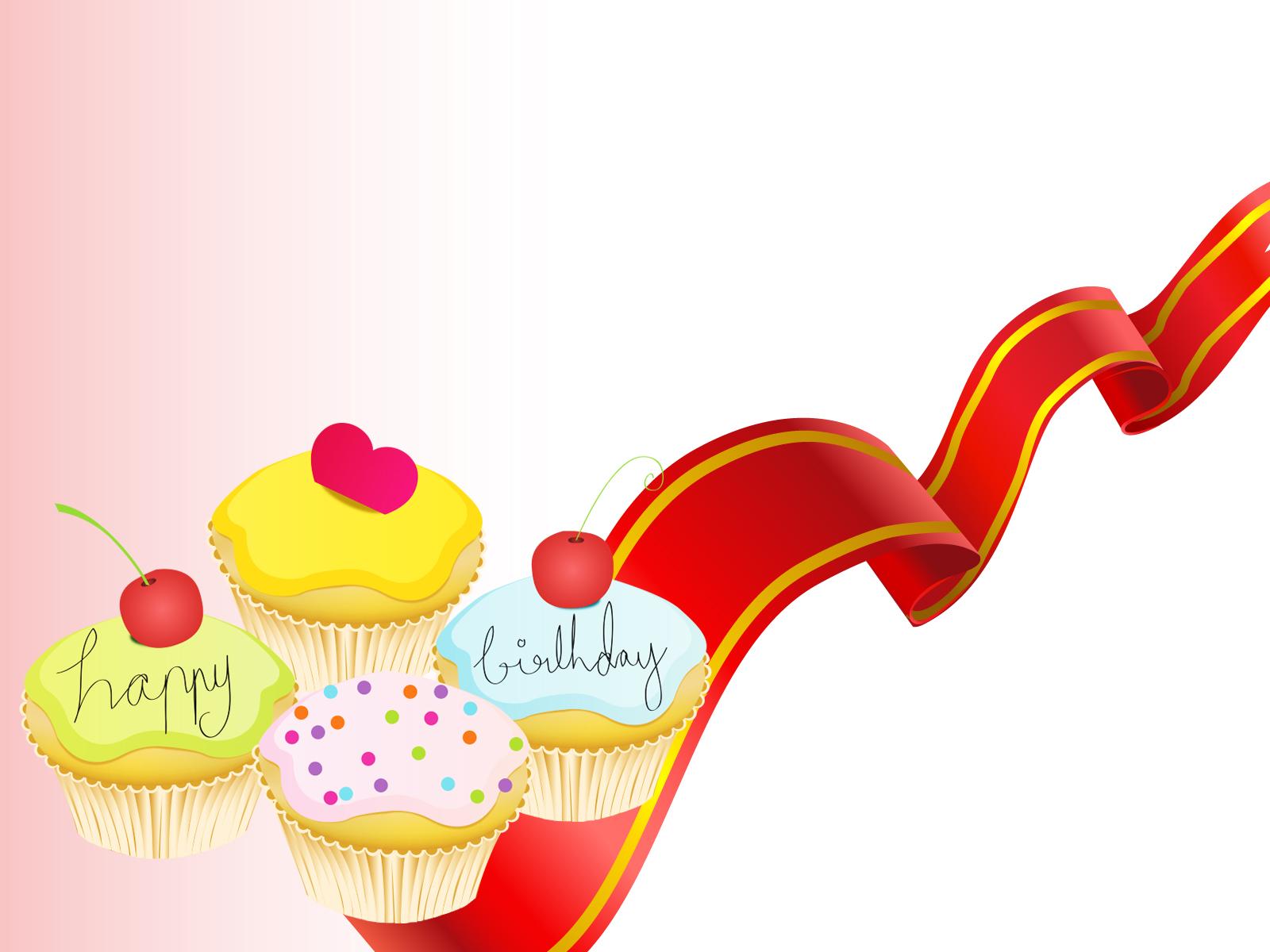 Lovely Little Birthday Cake Backgrounds