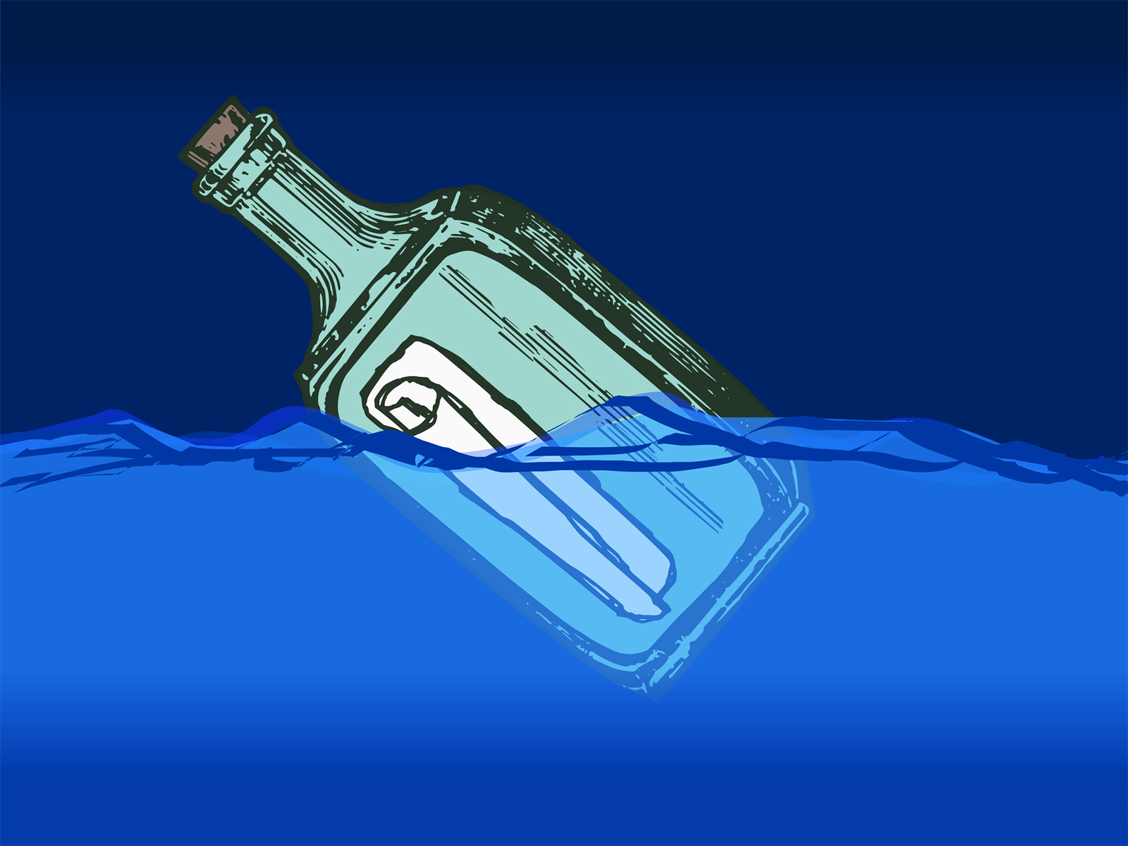 Message in a Bottle PPT Backgrounds