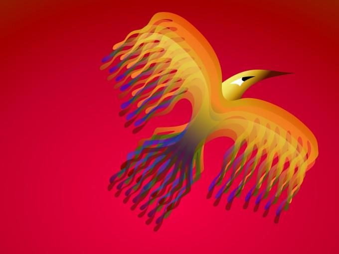 Phoenix Bird PPT Backgrounds