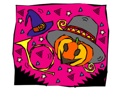 Pink Halloween Powerpoint Template