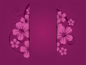 Purple Flowers Powerpoint Template