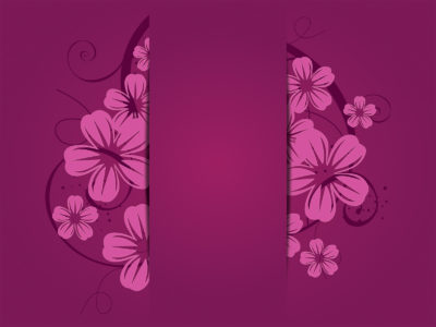 Purple Flowers Powerpoint Template