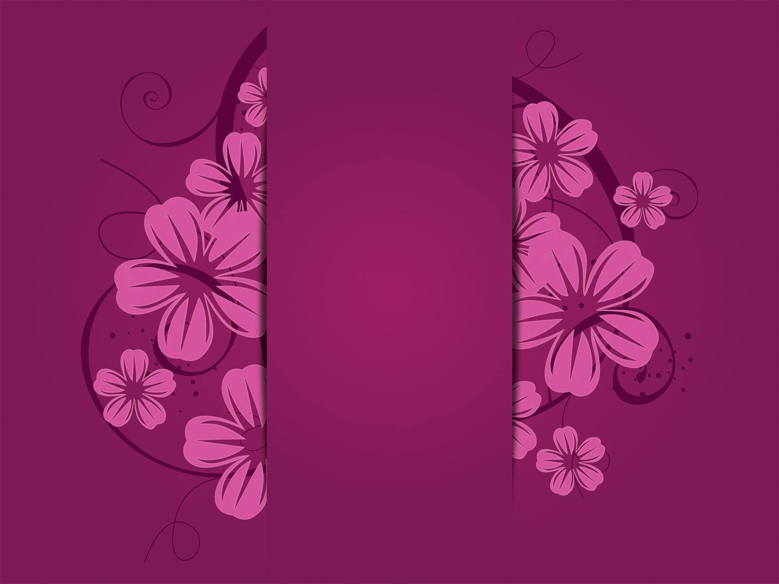 purple flowers powerpoint template ppt backgrounds