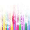 Rainbow Stripes Bubble Powerpoint Template