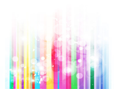 Rainbow Stripes Bubble Powerpoint Template
