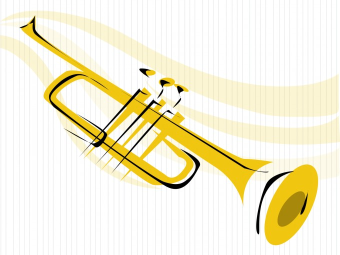 Trumpet Musical PPT Templates PPT Backgrounds