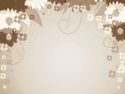 Brown floral decorative backgrounds