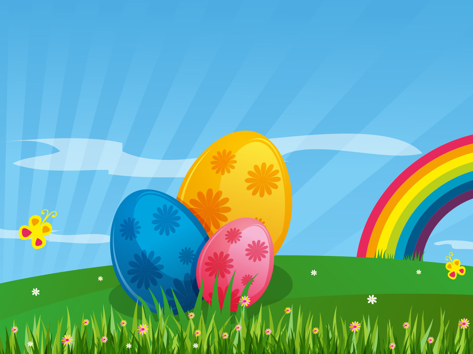 Easter Colorful Decorative PPT Backgrounds
