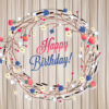 Floral birthday card ppt backgrounds