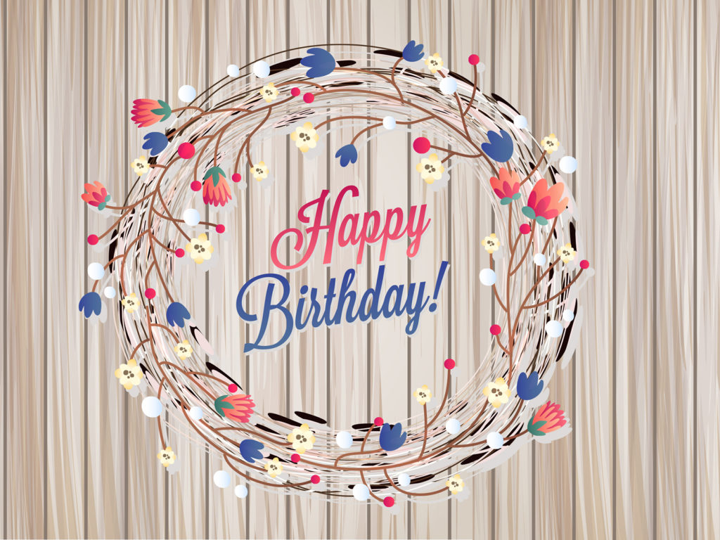 floral birthday card backgrounds brown