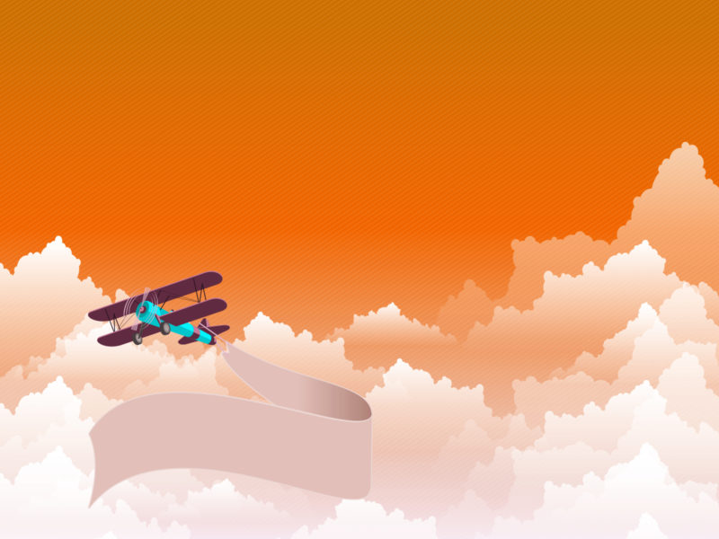 Flying Ribbon Powerpoint Backgrounds