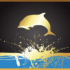 Golden Dolphin Powerpoint Backgrounds