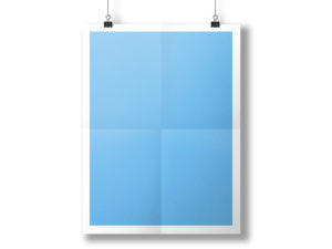 Hanging Paper Poster Mockup PPT Backgrounds