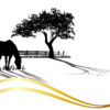 Horse Grazing Powerpoint Templates