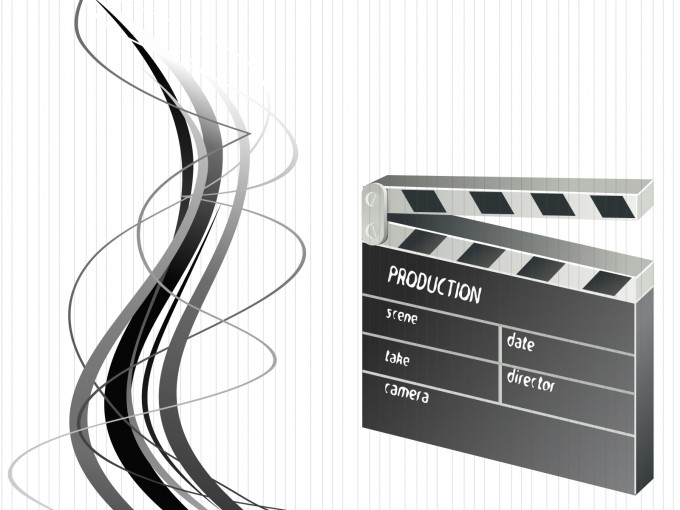Movie Clapper Realistic PPT Backgrounds