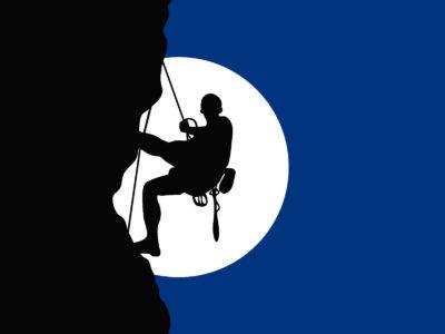 Rock Climber Powerpoint Template