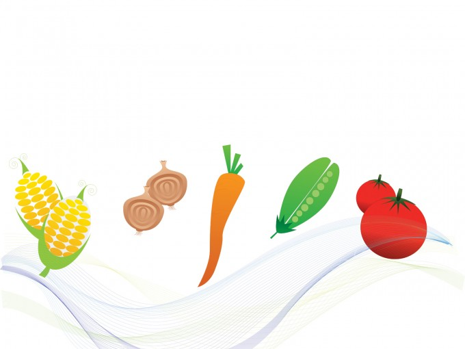 Vegetables Foods Template PPT Backgrounds