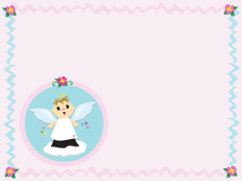 Baby angel blue stripes backgrounds