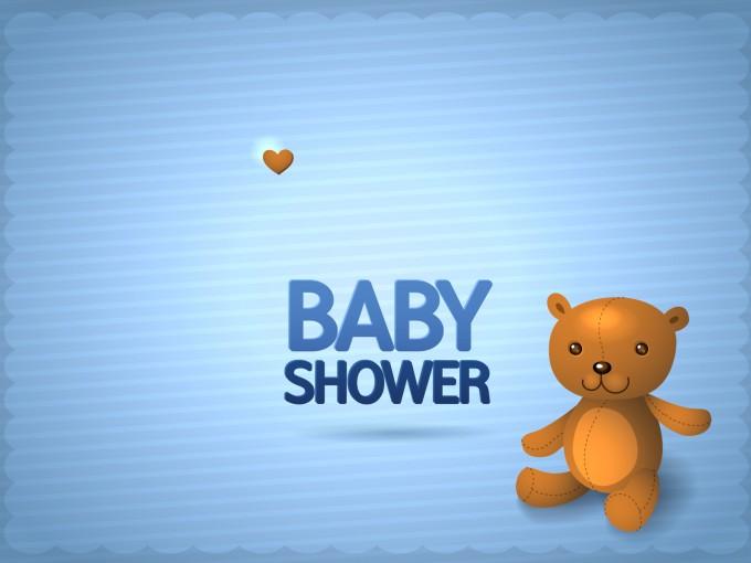 Baby boy shower invitation PPT Backgrounds