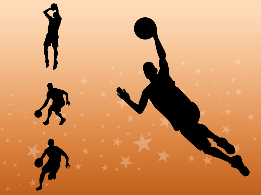 Basketball Players Ppt Backgrounds  Sports Templates  Ppt Grounds