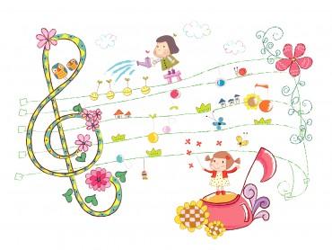 Cute Girls and Sheet Music