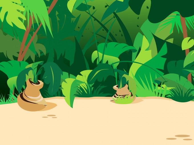 Jungle Plants PPT Backgrounds