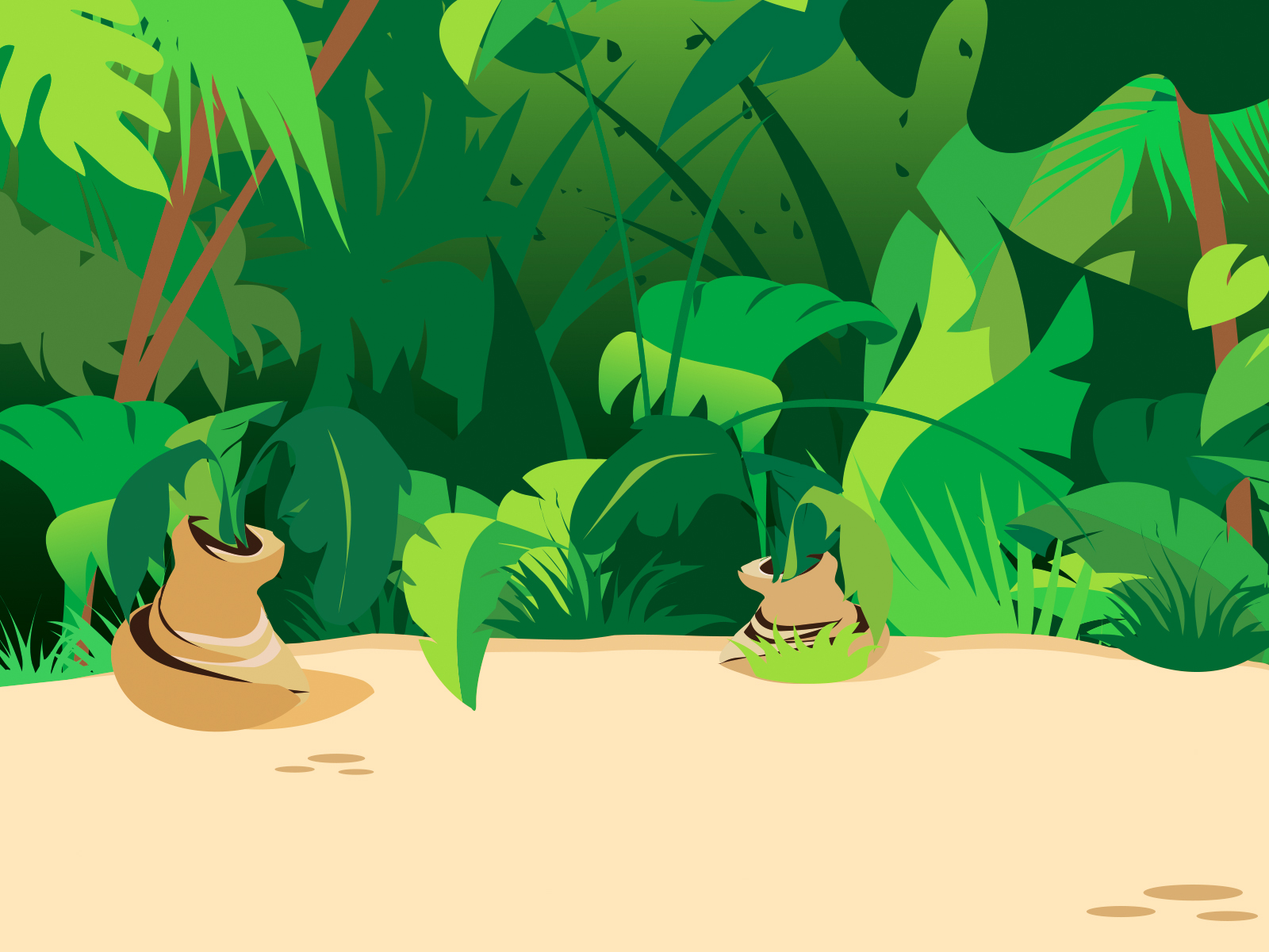 Jungle Plants PPT Backgrounds
