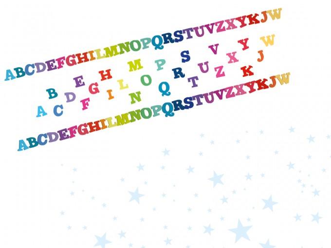 Rainbow 3D Letters PPT Backgrounds