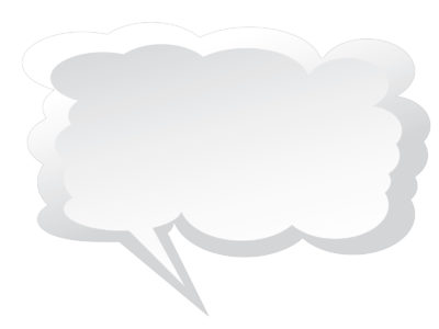 Speech Clouds Frame Backgrounds