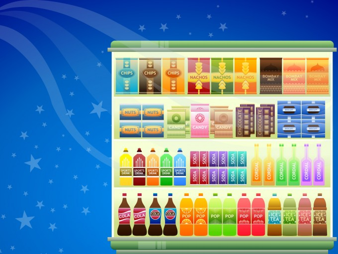Super Market Goods Design PPT Backgrounds