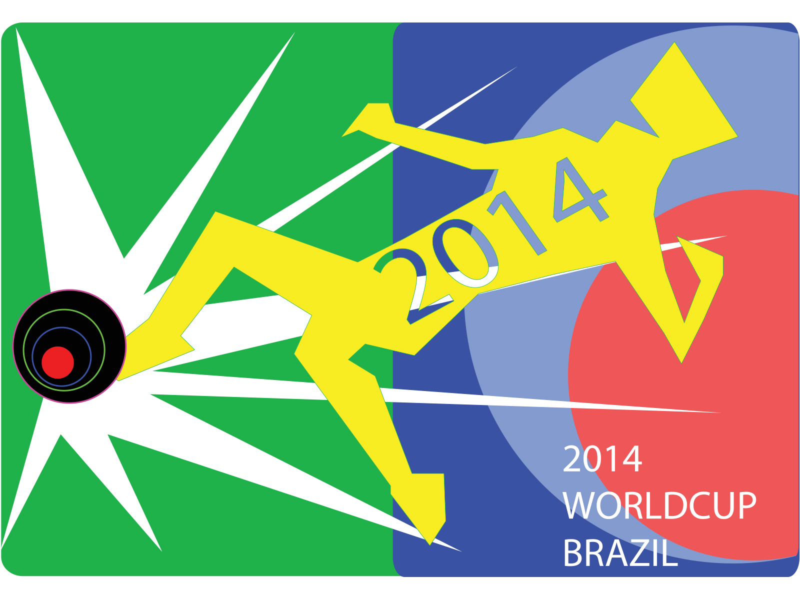 2014 worldcup brazil ppt backgrounds - sports templates - ppt grounds, Presentation templates