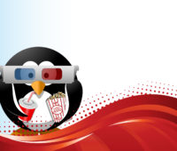 Cinema Penguin PPT Backgrounds