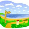 Coastal Landscape Scene Backgrounds