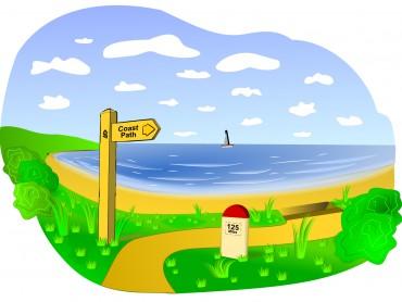 Coastal Landscape Scene