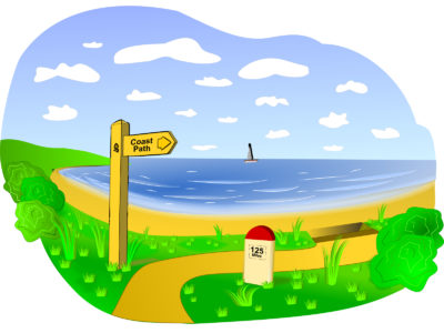 Coastal Landscape Scene Backgrounds