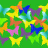 Colorful Butterflies Powerpoint Backgrounds