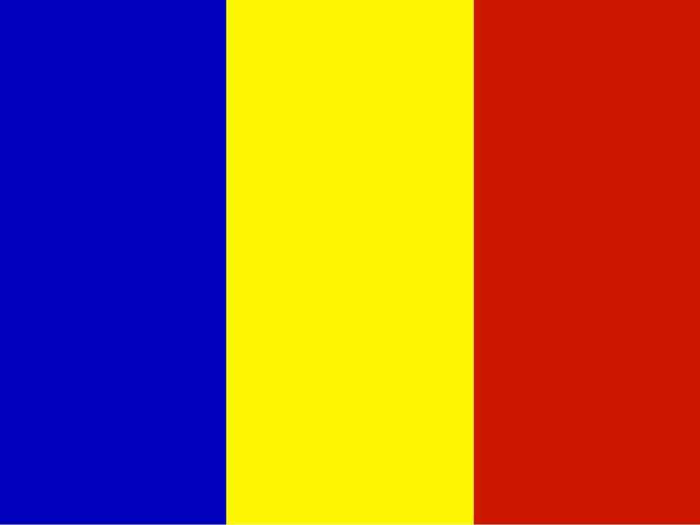 Flags of Romania Country Backgrounds