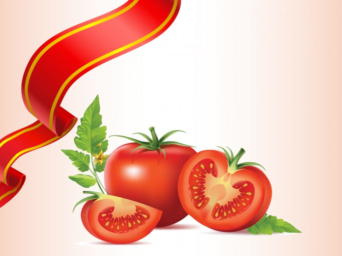 Natural Healthy Food Tomato PPT Backgrounds