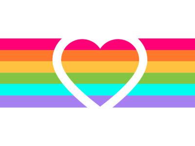 Rainbow Heart Powerpoint Backgrounds